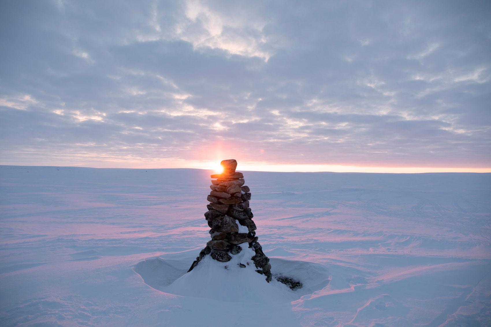paysage coucher soleil Nunavik