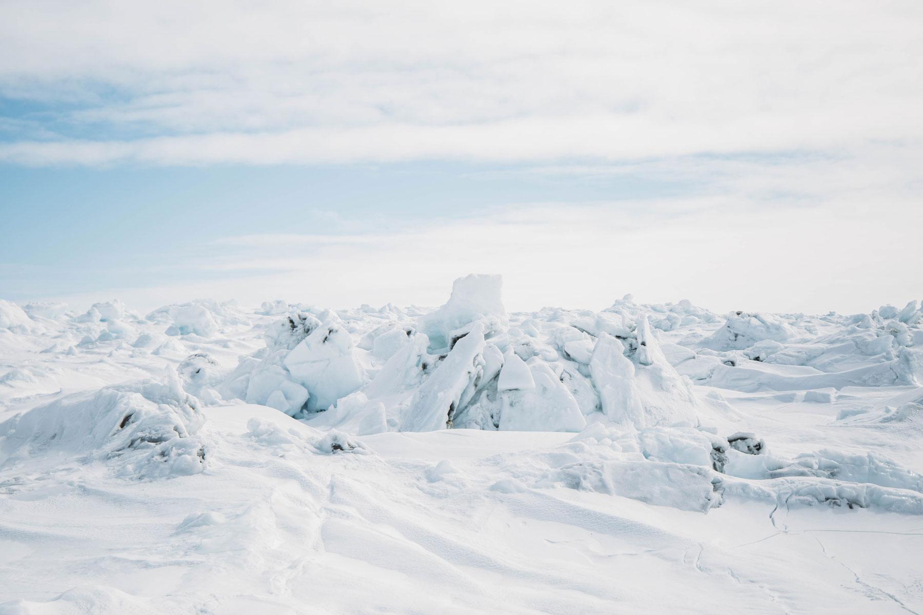 photographier champ de glace Canada