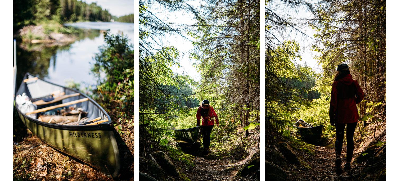 principe du canot-camping
