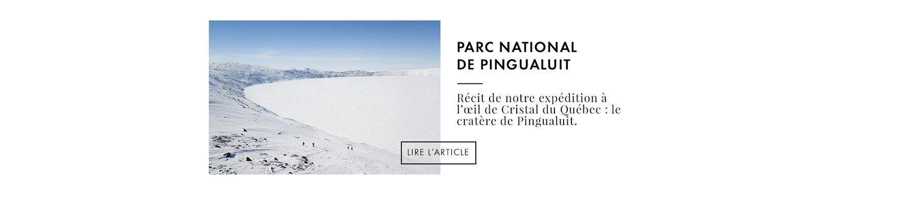 randonnée parc national de Pingualuit Québec