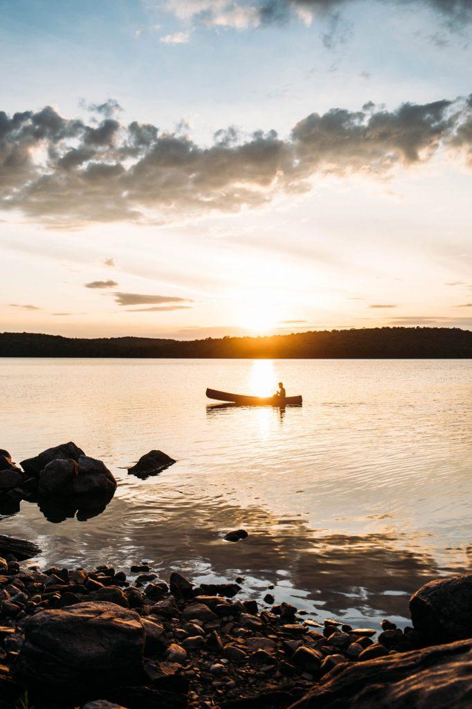 camping sauvage sur une ile au Québec