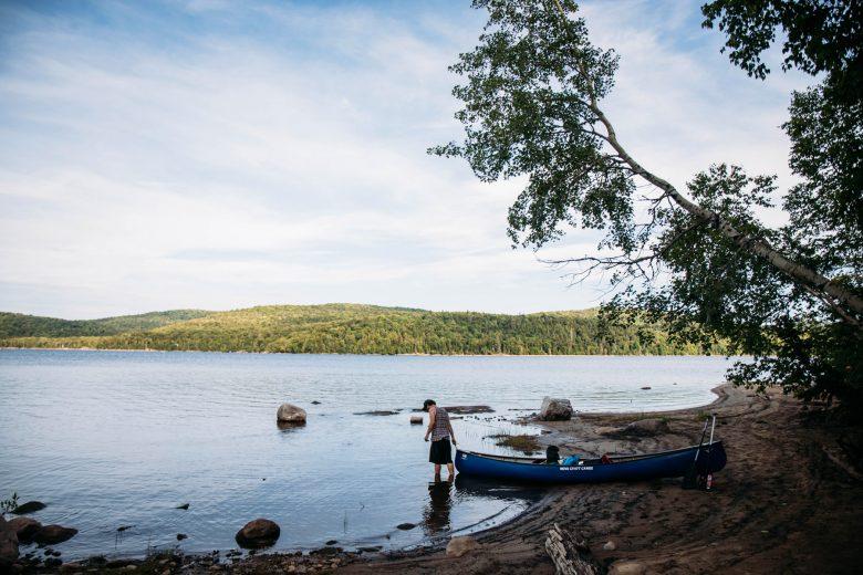 Québec — robinsonnades dans le parc régional (encore secret) de Kiamika
