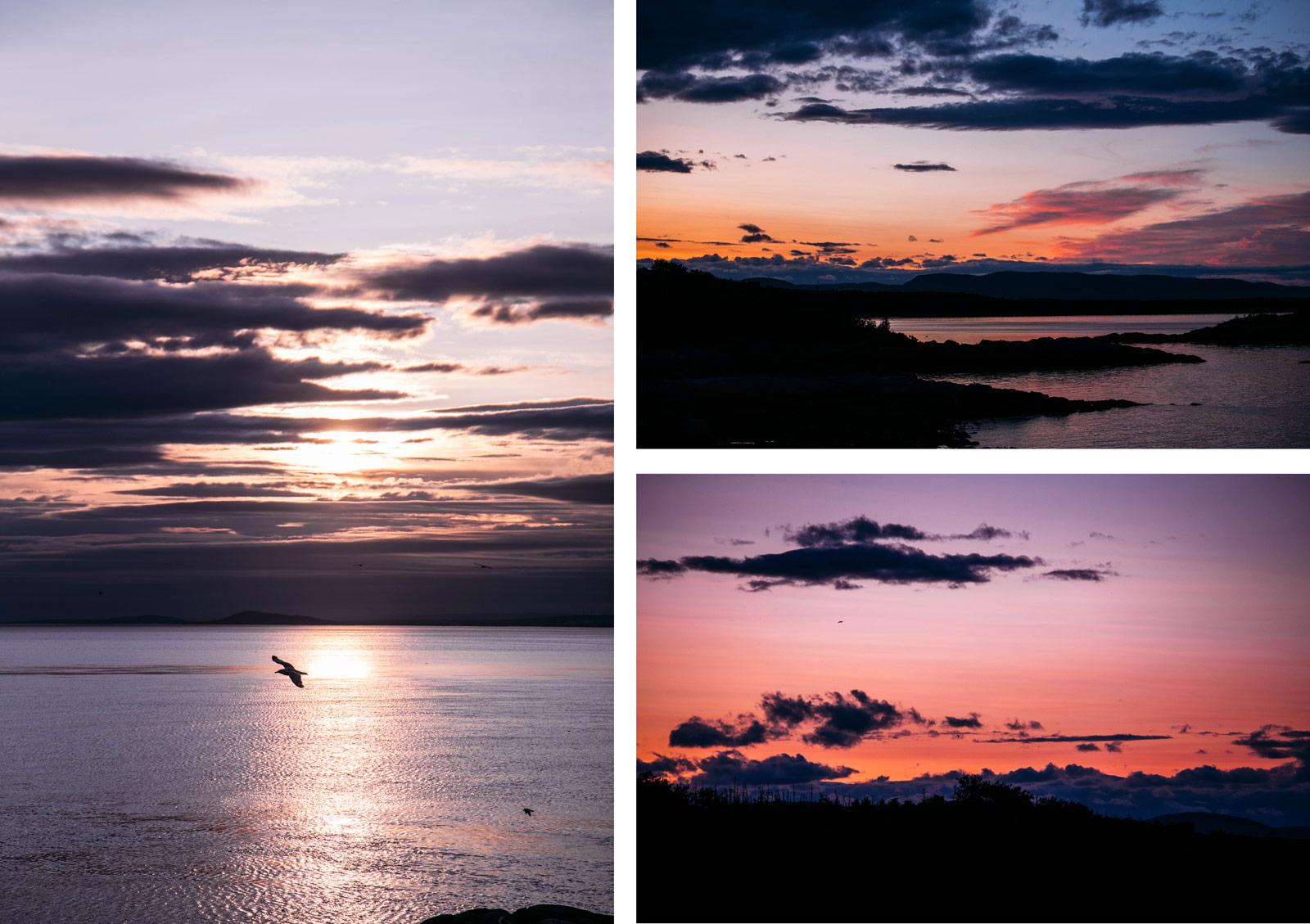 coucher de soleil bas-saint-laurent