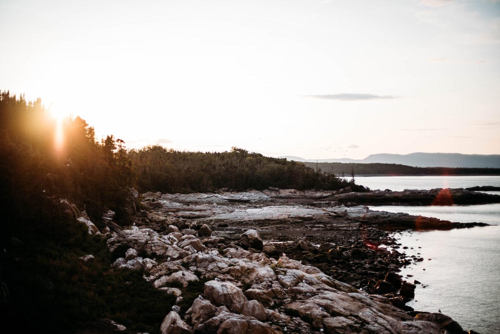 coucher de soleil ile du pot à l'eau de-vie