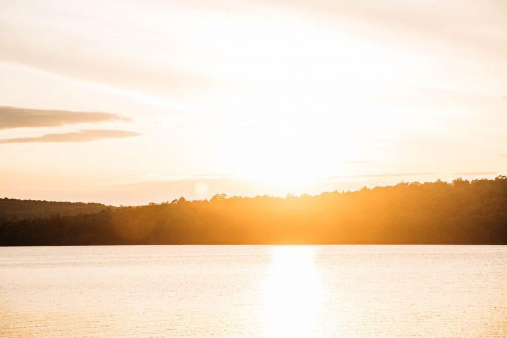 coucher de soleil parc régional Kiamika été