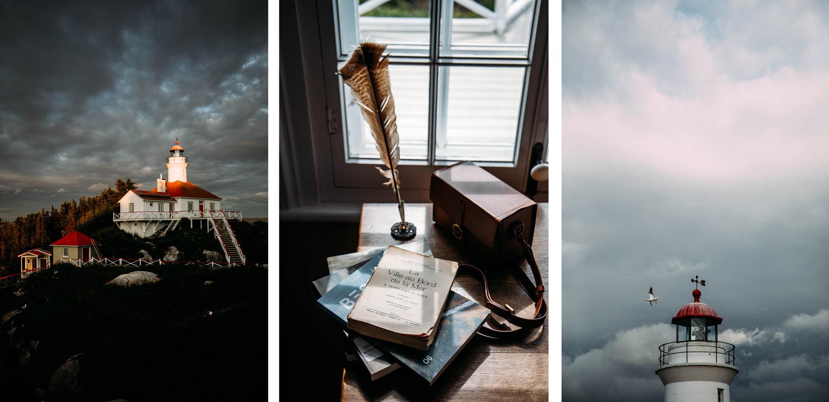 expérience insolite au Québec : dormir dans un phare