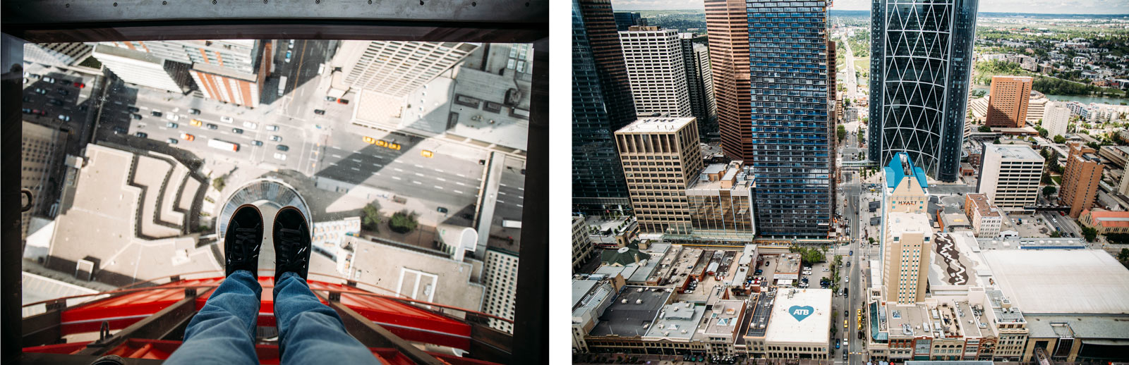 vue depuis la Calgary Tower