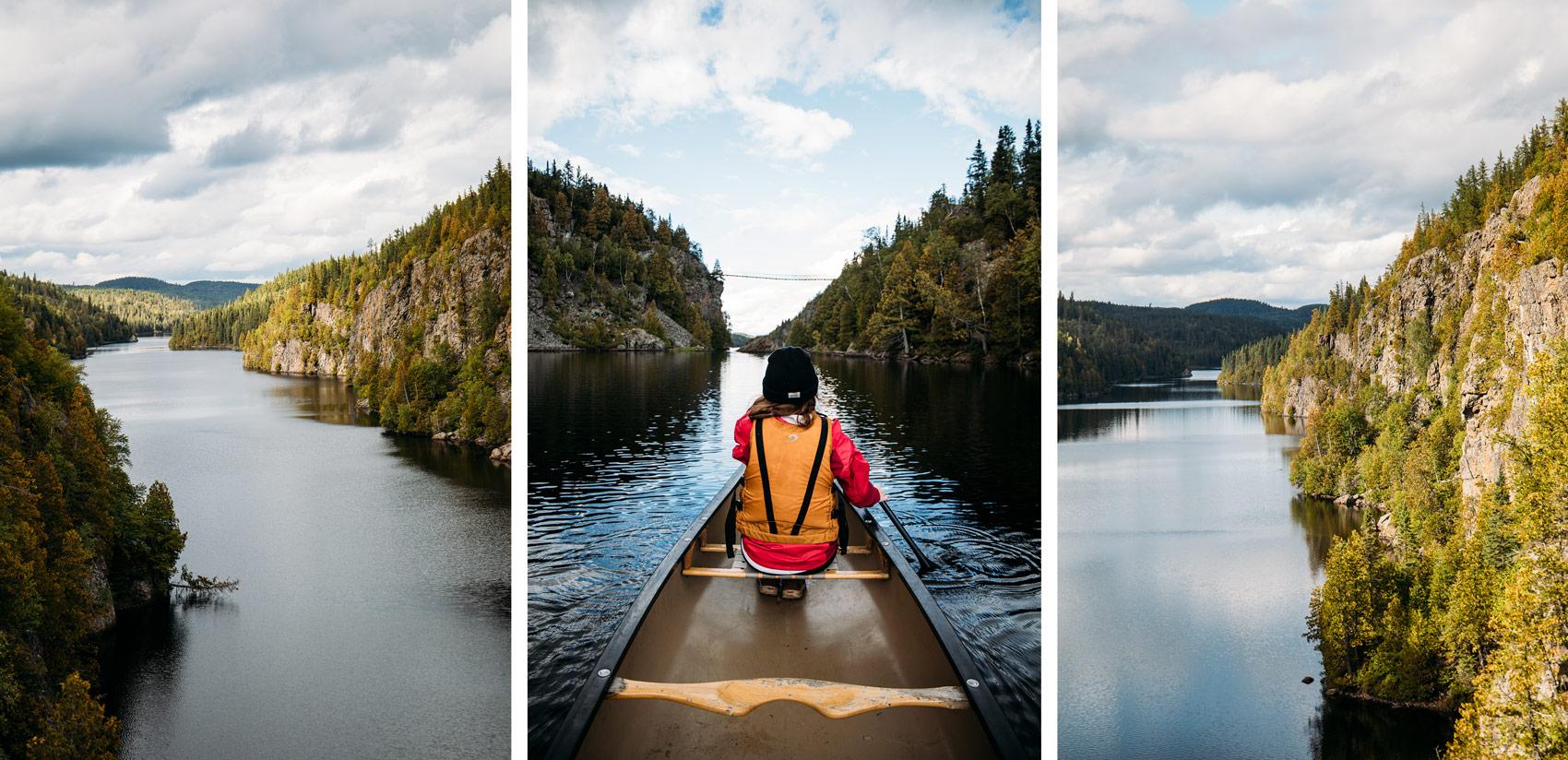 faire du canot au parc national Aiguebelle