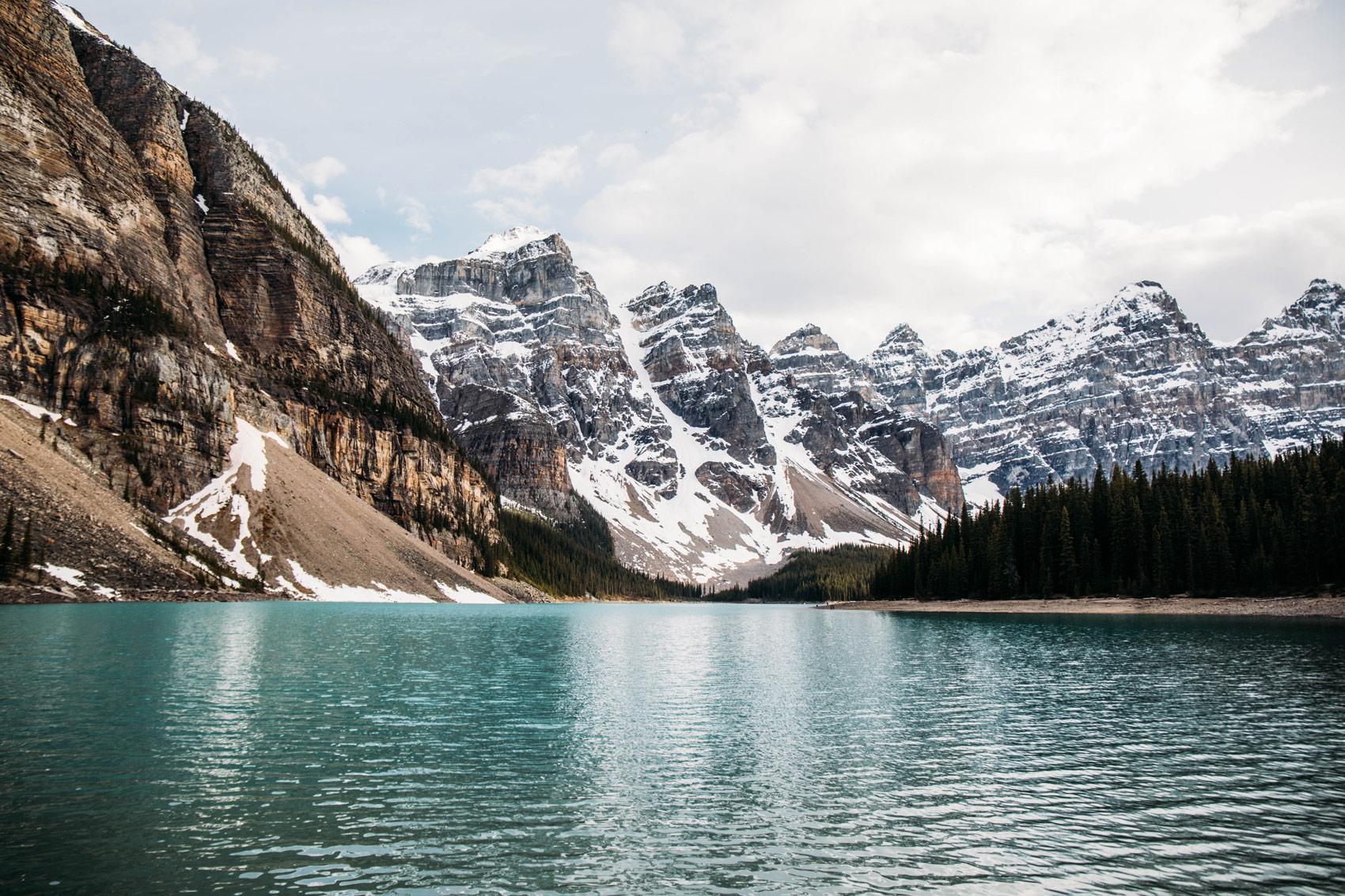 lac moraine ouest canadien parc national banff