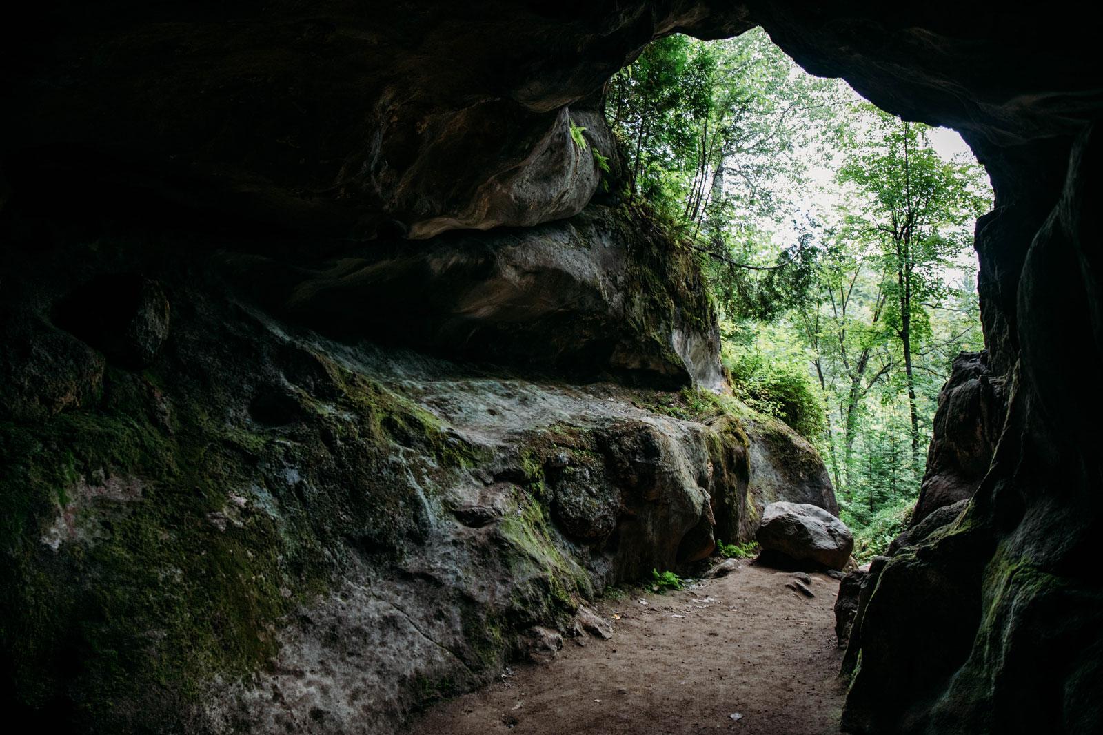 plus grande caverne du bouclier canadien