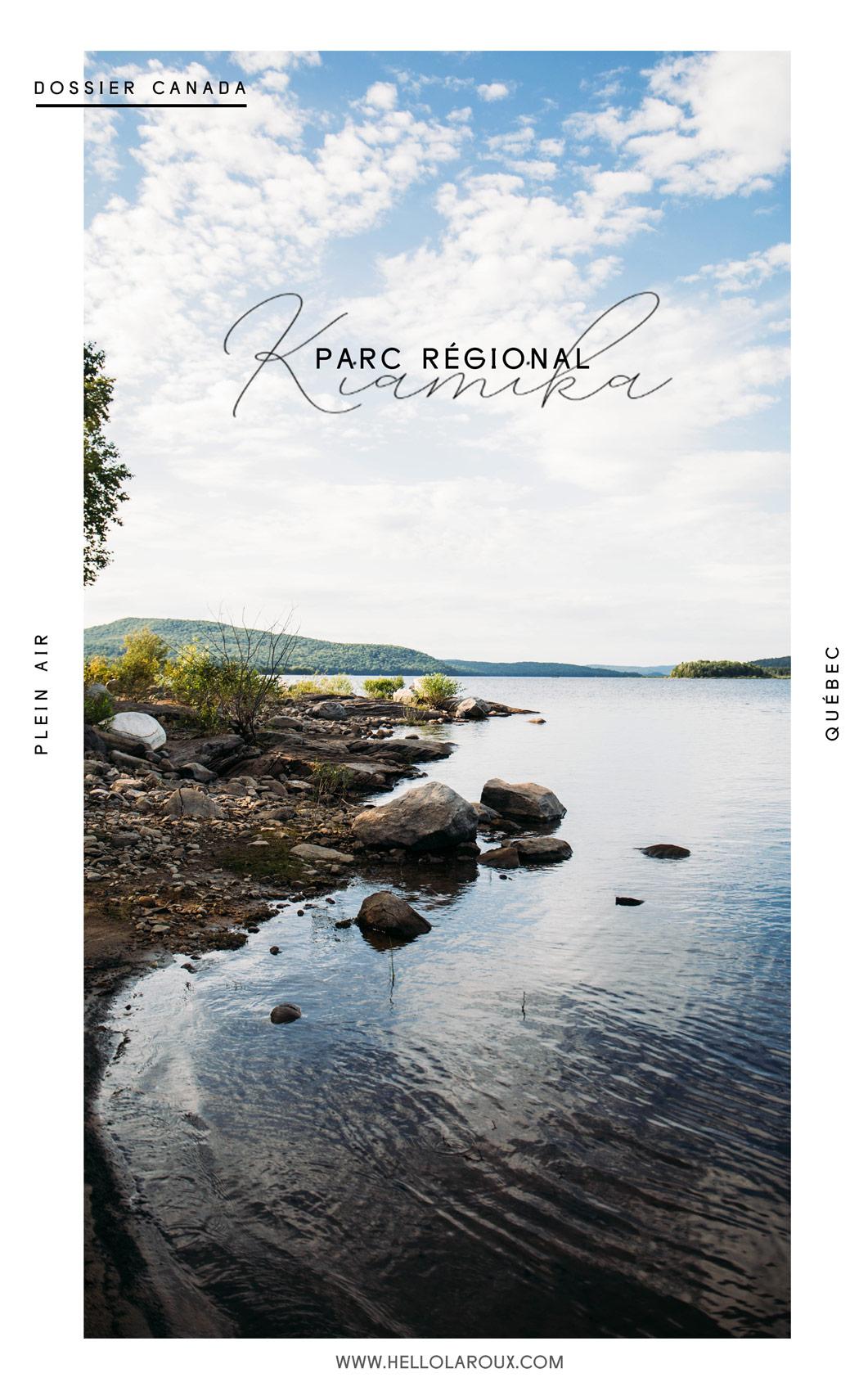 voir le parc régional kiamika au Québec