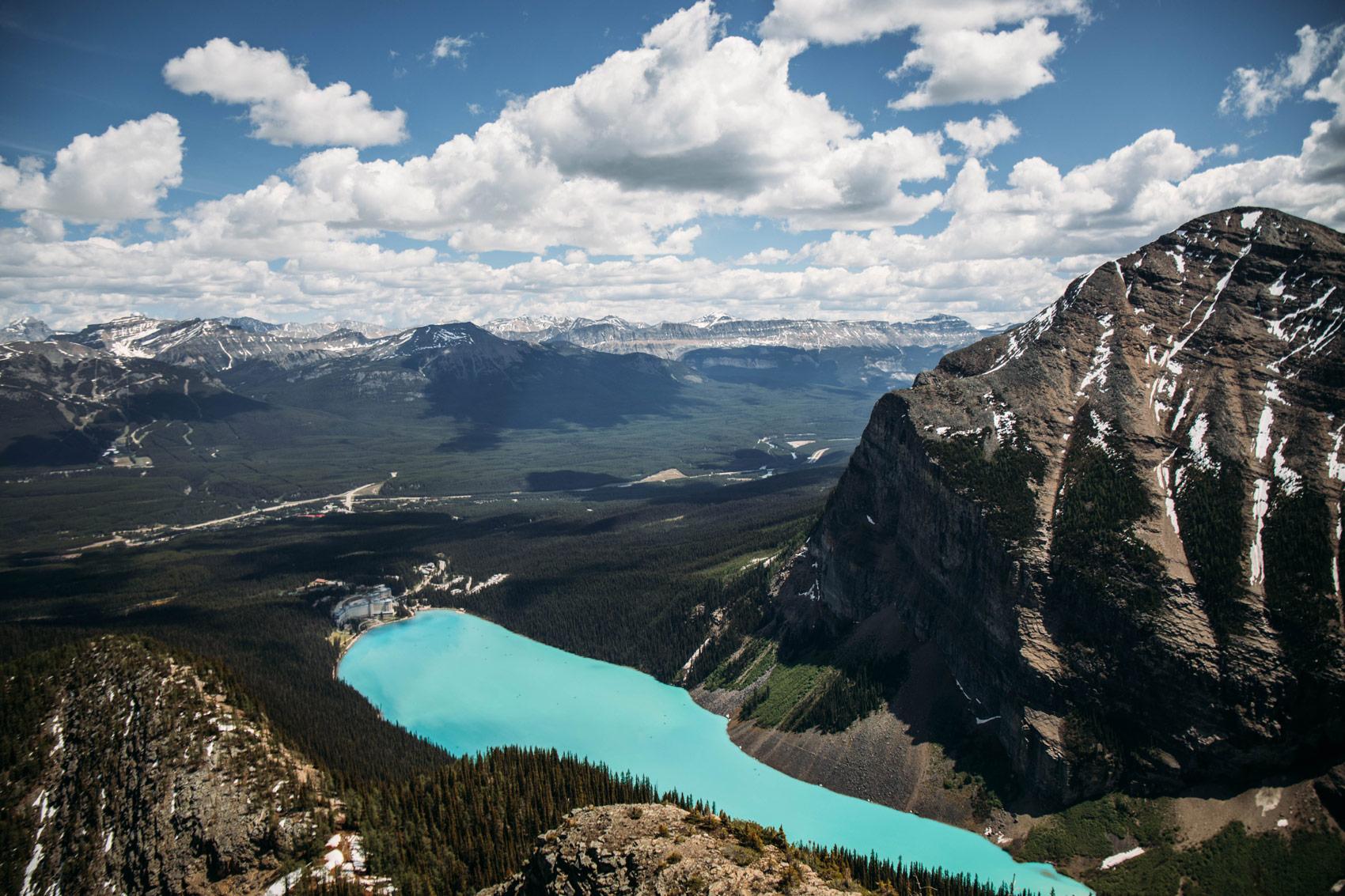 vue sur le lac louise Alberta