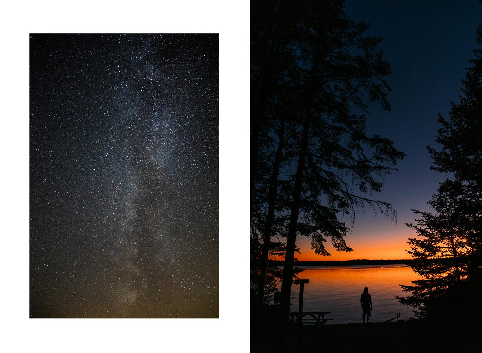 coucher de soleil au parc national de Frontenac