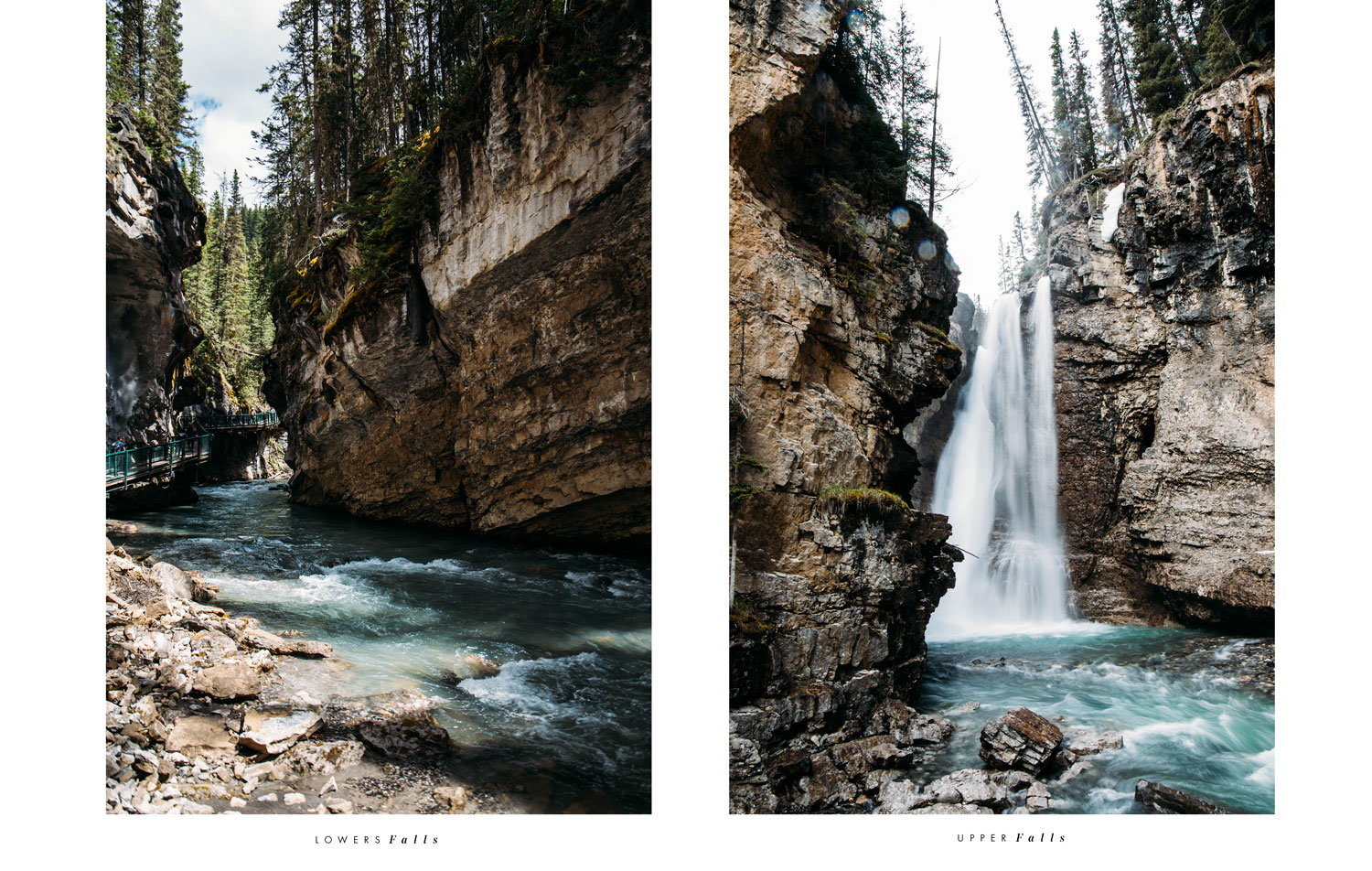 lower & upper falls Johnston Canyon Alberta