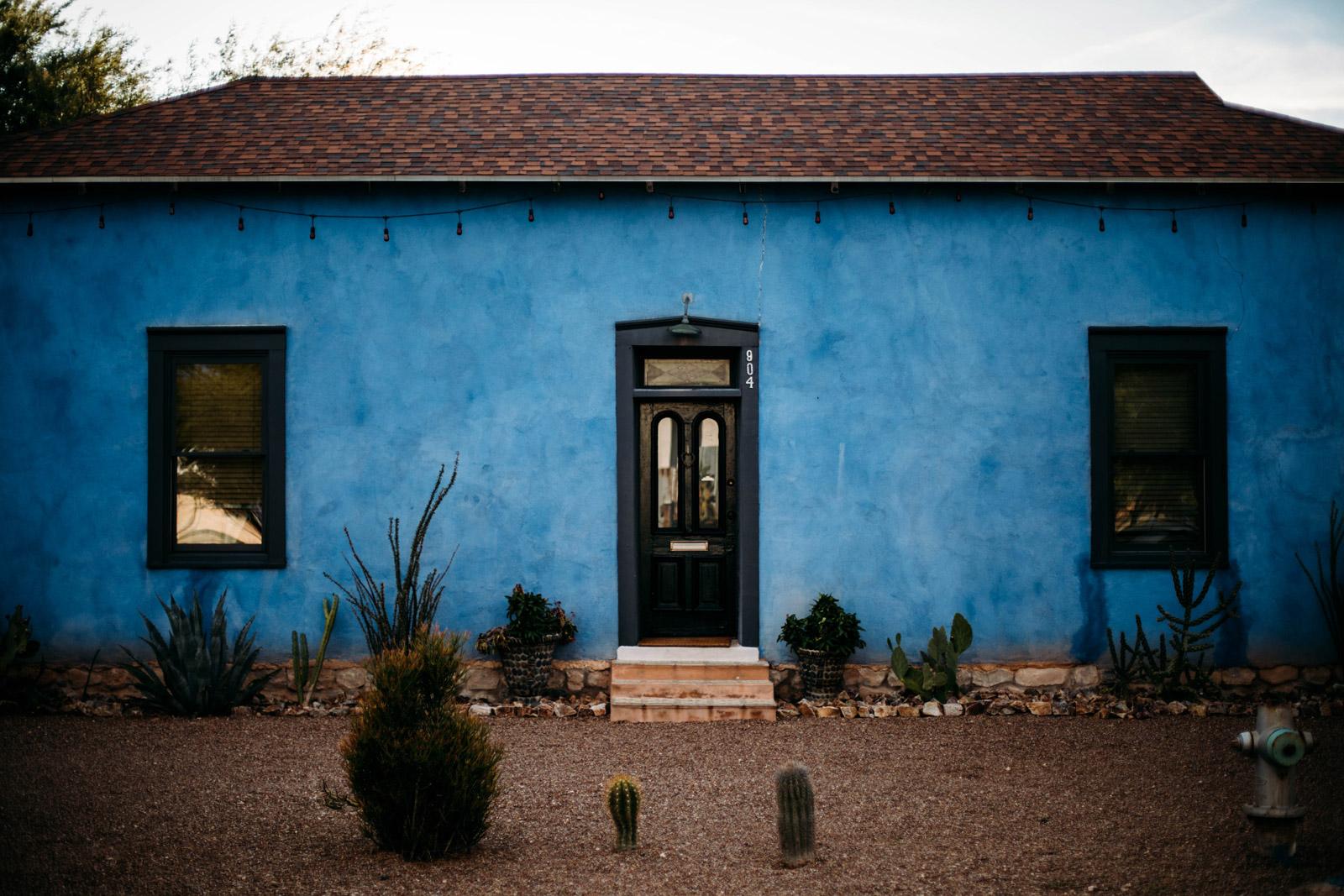 maisons colorées barrio viejo Tucson