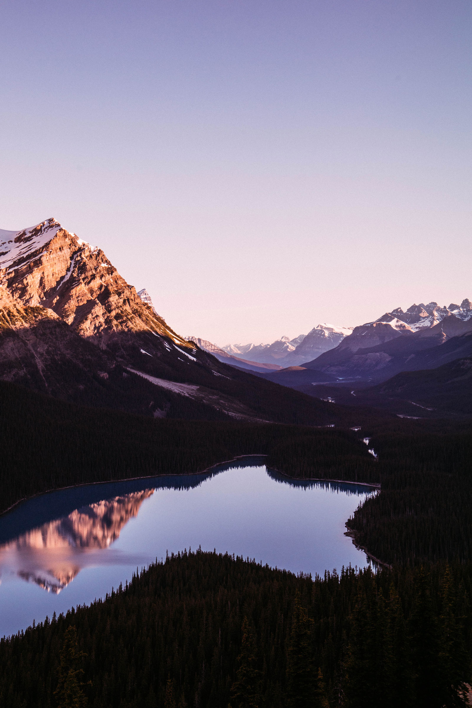 rocheuses canadiennes lac peyto sunrise
