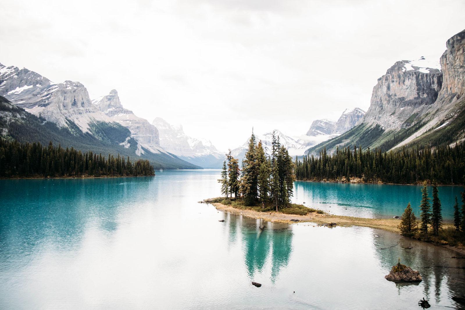 voir Spirit Island Lac Maligne Jasper
