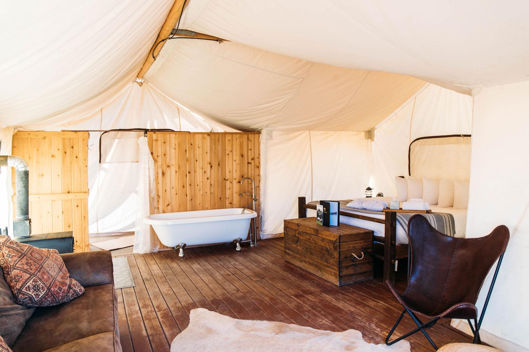 camping de luxe ouest américain