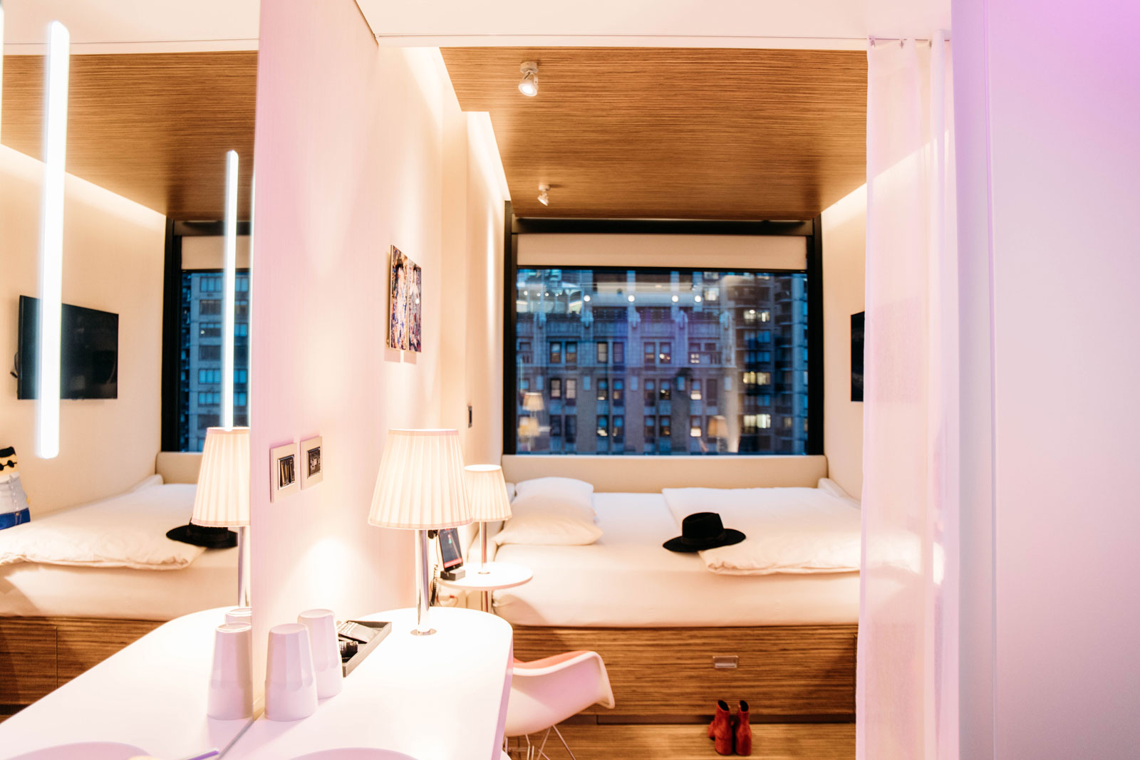 intérieur chambre CitizenM times square