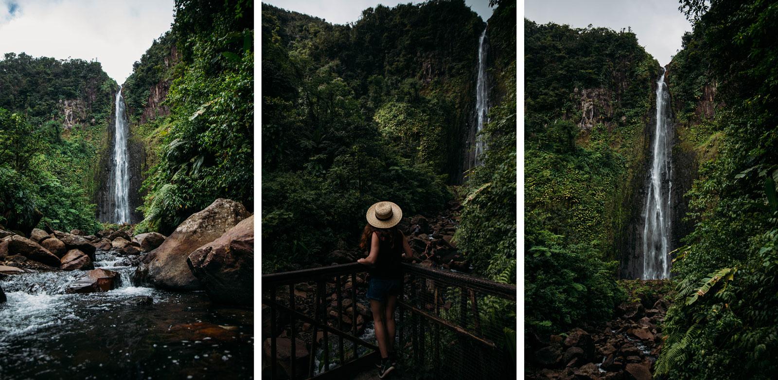 les chutes du carbet à voir en Guadeloupe