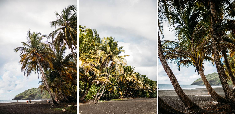 plage sable noir Trois-rivières Guadeloupe