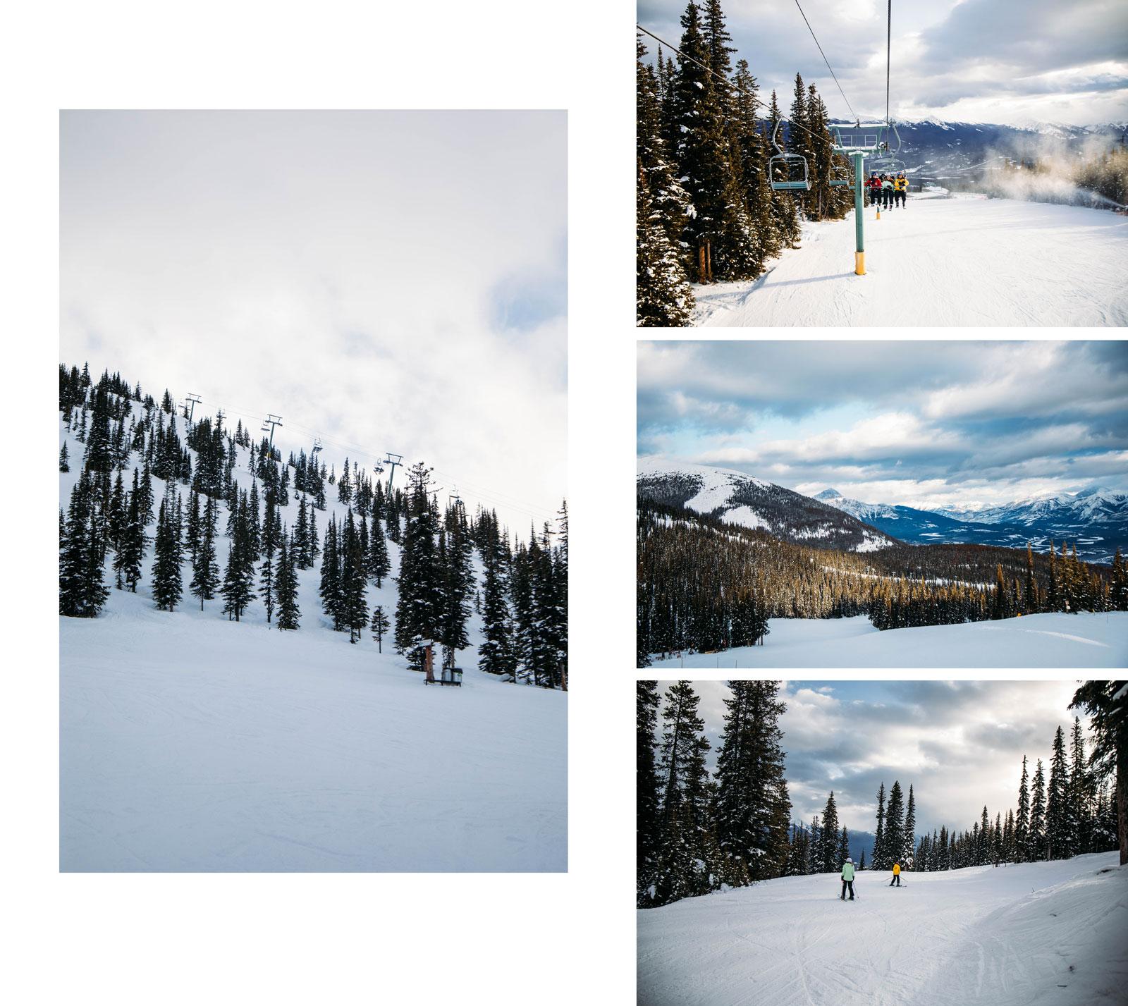 marmot basin Jasper skier en Alberta