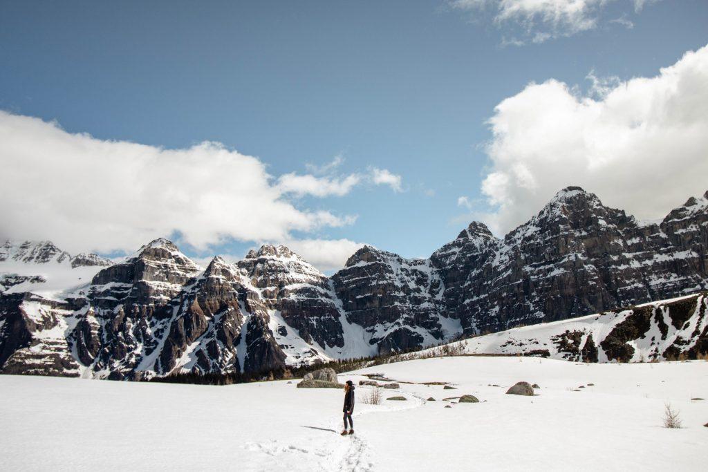 randonnée dans les rocheuses canadiennes vallée des dix pics