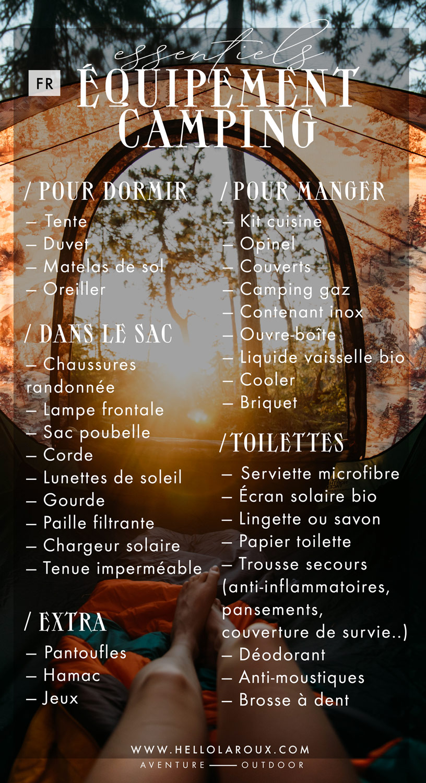 checklist-equipement-camping-essentiels