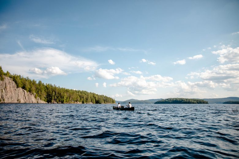 Micro-aventure au parc du Poisson Blanc — canot-camping, escalade & baignade