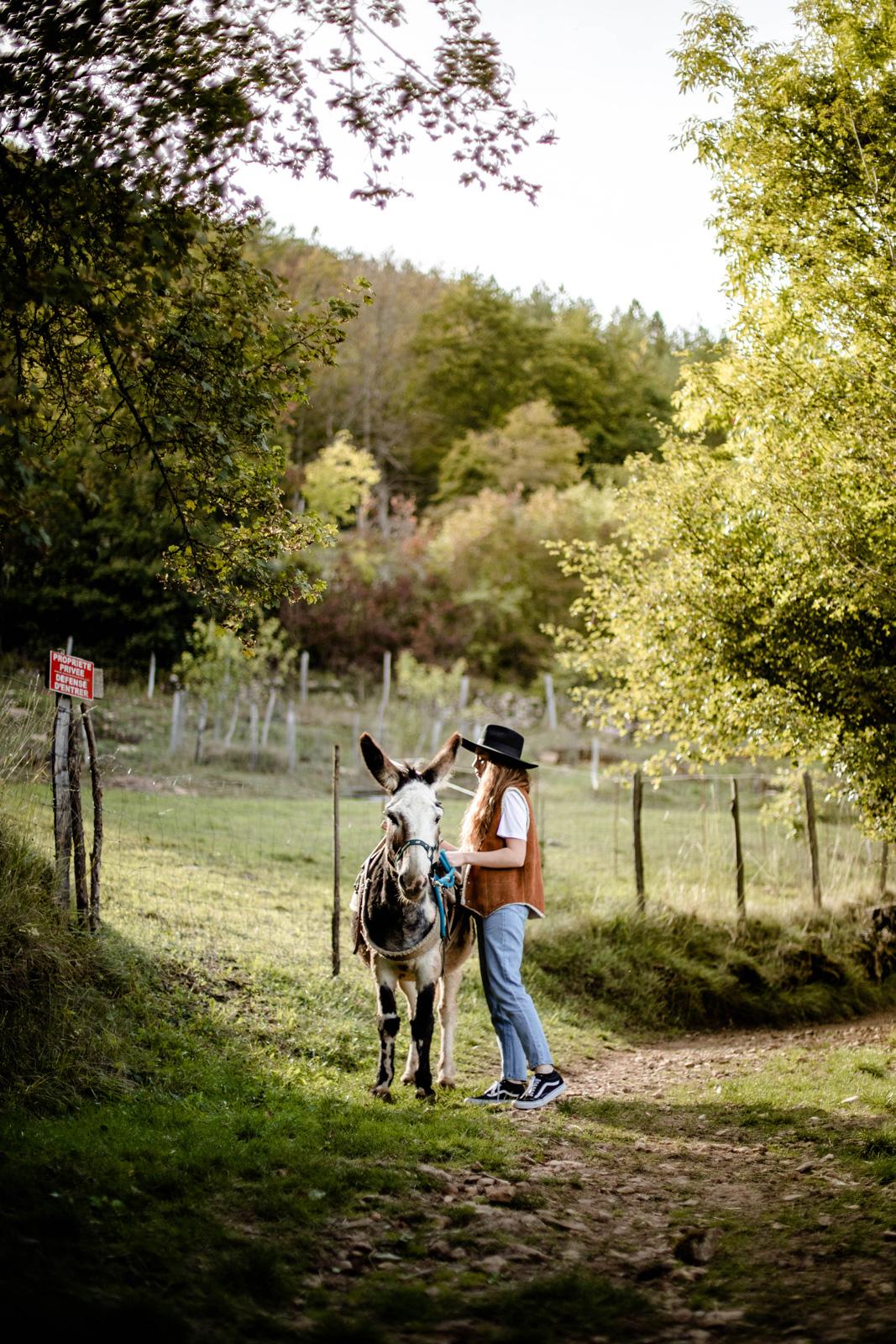 randonner avec un âne en Lozère comme Stevenson