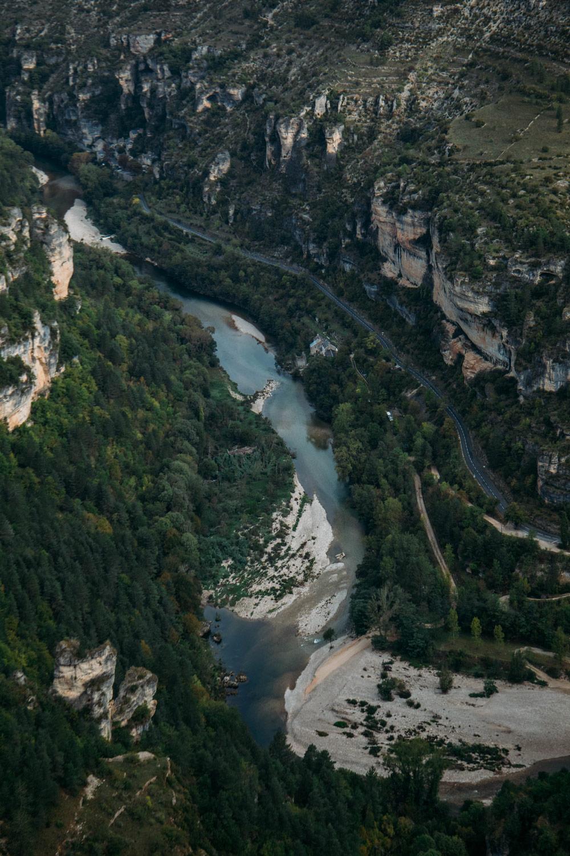 vue depuis le Saltadou Gorges du tarn