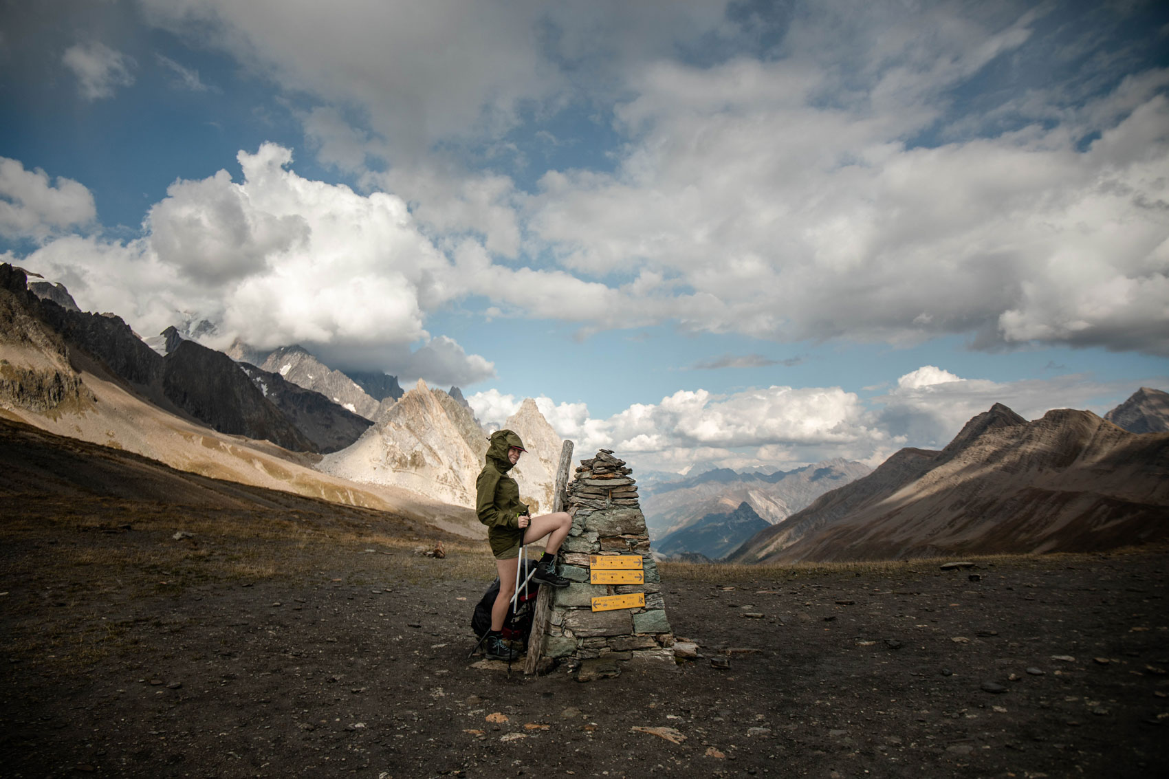col de la seigne étape trek tour du Mont-Blanc