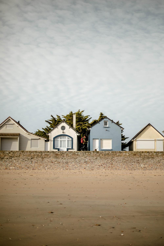 les jolies cabines de plage de Ravenoville