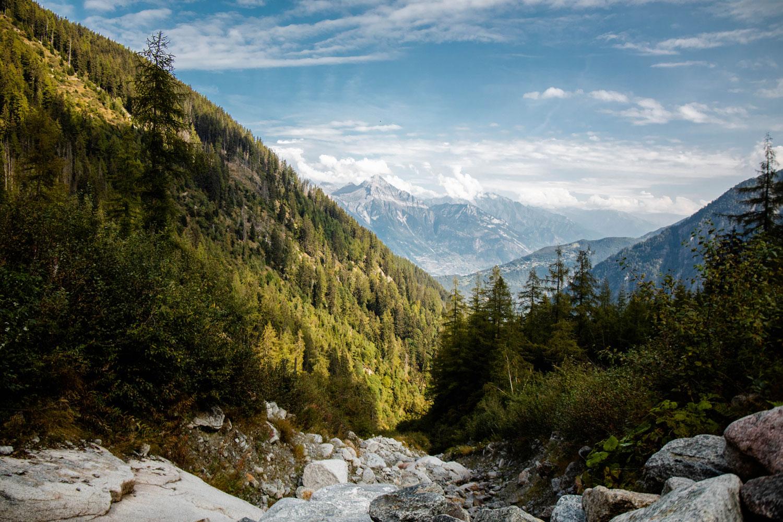 parcours du tour du mont-blanc en suisse