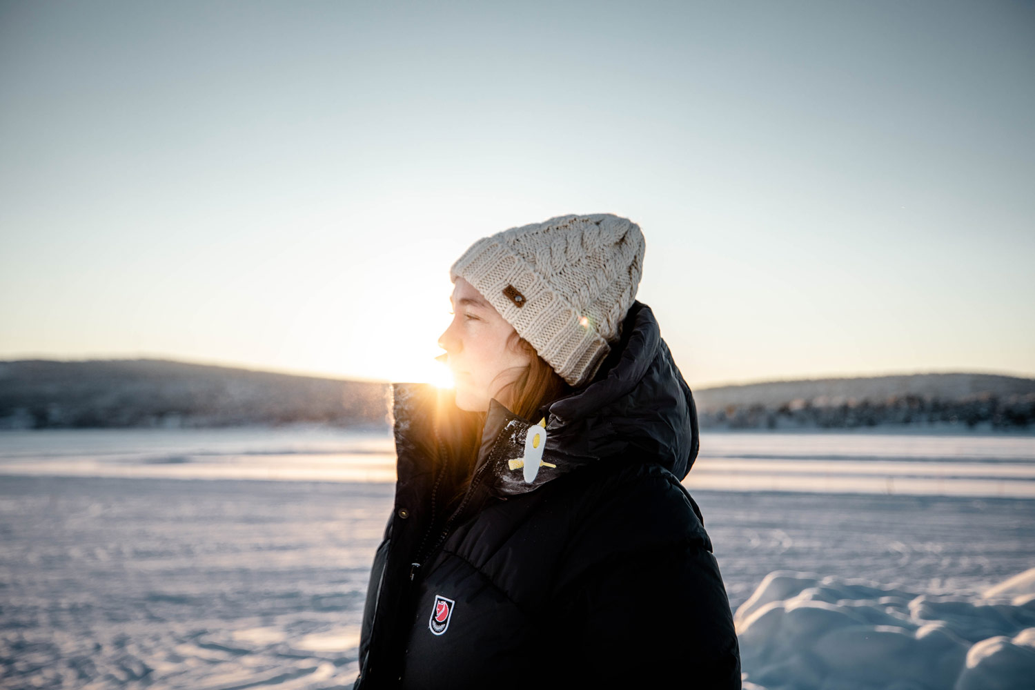 test doudoune expédition down jacket w fjallraven
