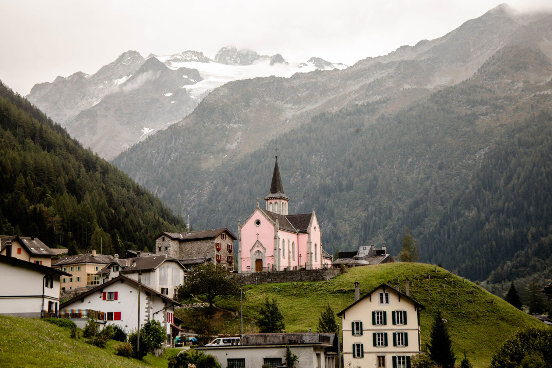 village alpin Trient en Suisse