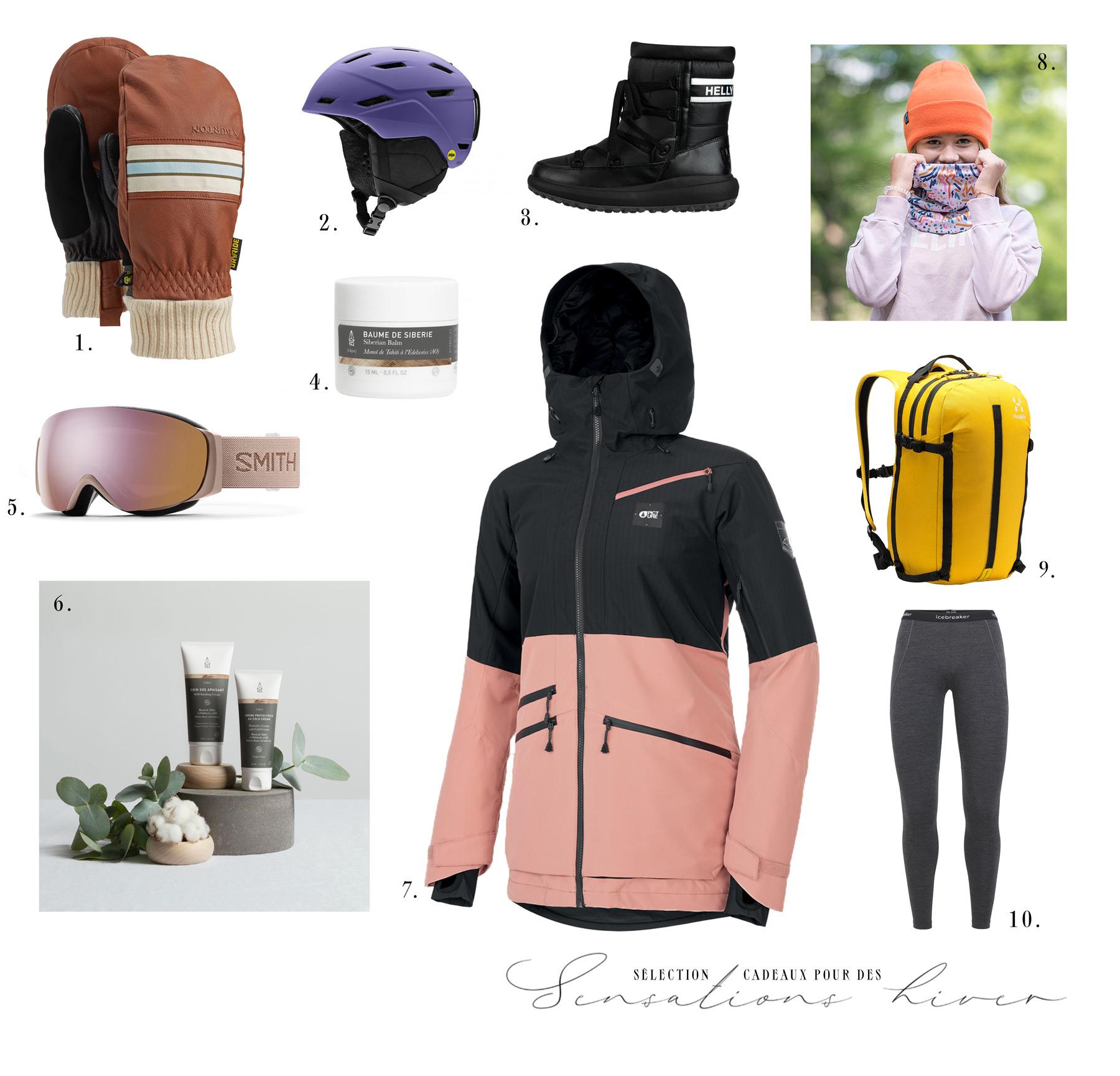 sélection de cadeaux sport d'hiver pour elle