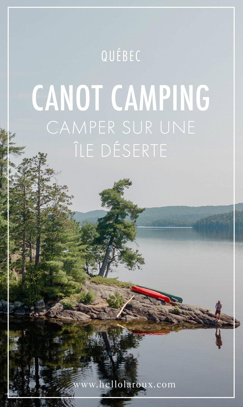 camper sur une ile déserte au Québec