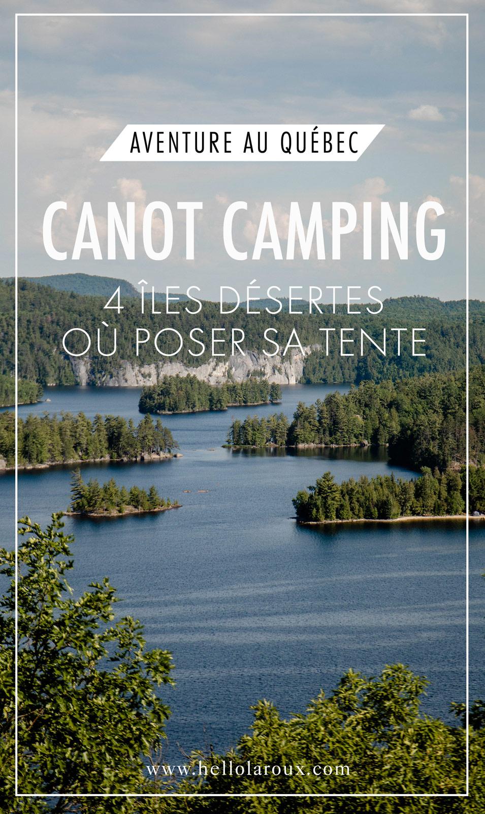 canot camping au Québec ile déserte