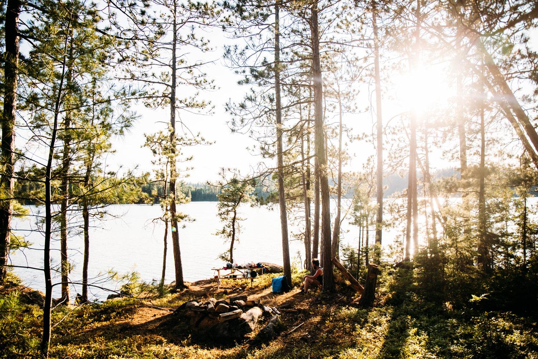 canot camping au Québec au parc Opémican