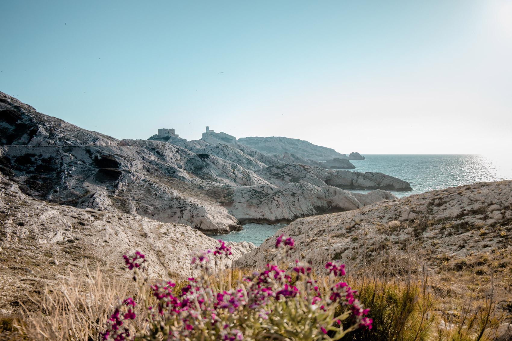 archipel du frioul à Marseille en photo