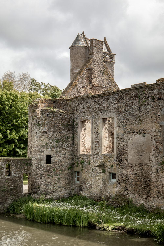 architecture du chateau de gratot