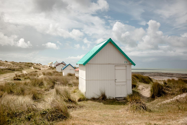 plus belles cabines de plage du Cotentin
