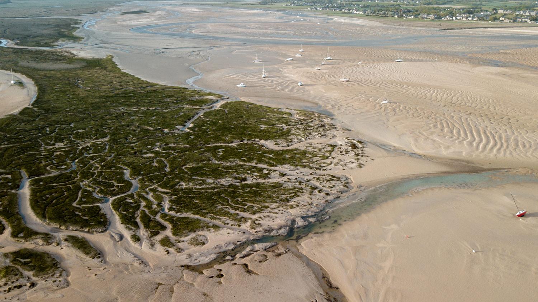havre de Regnéville à marée basse
