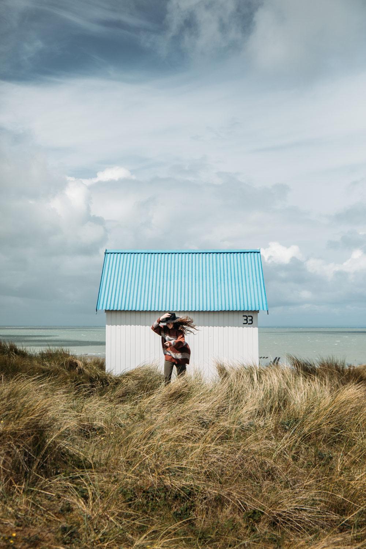 photographier les cabines de plage de Gouville-sur-mer