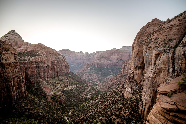 point de vue canyon overlook trail sunset