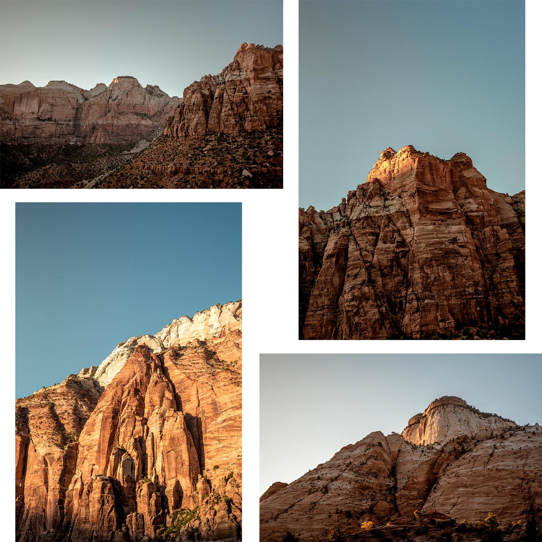 scenic drive et points de vue zion national park