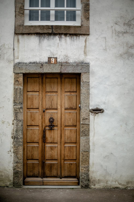 vieille porte en bois Coutances
