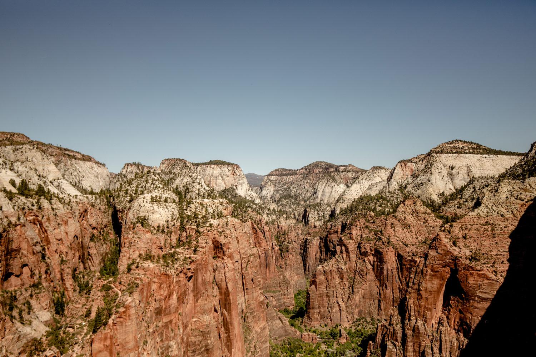 vue panoramique sur le canyon de Zion