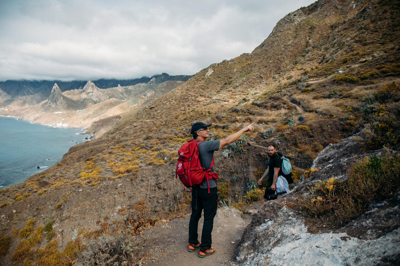 guide de randonnée à Tenerife anaga